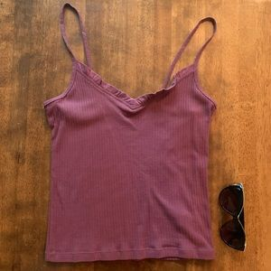 NWOT Cropped Tank with Spaghetti Strap
